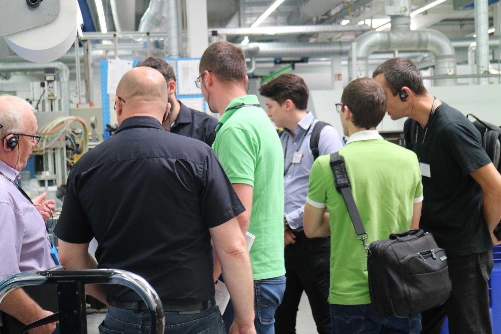 Training participants visit our production plant