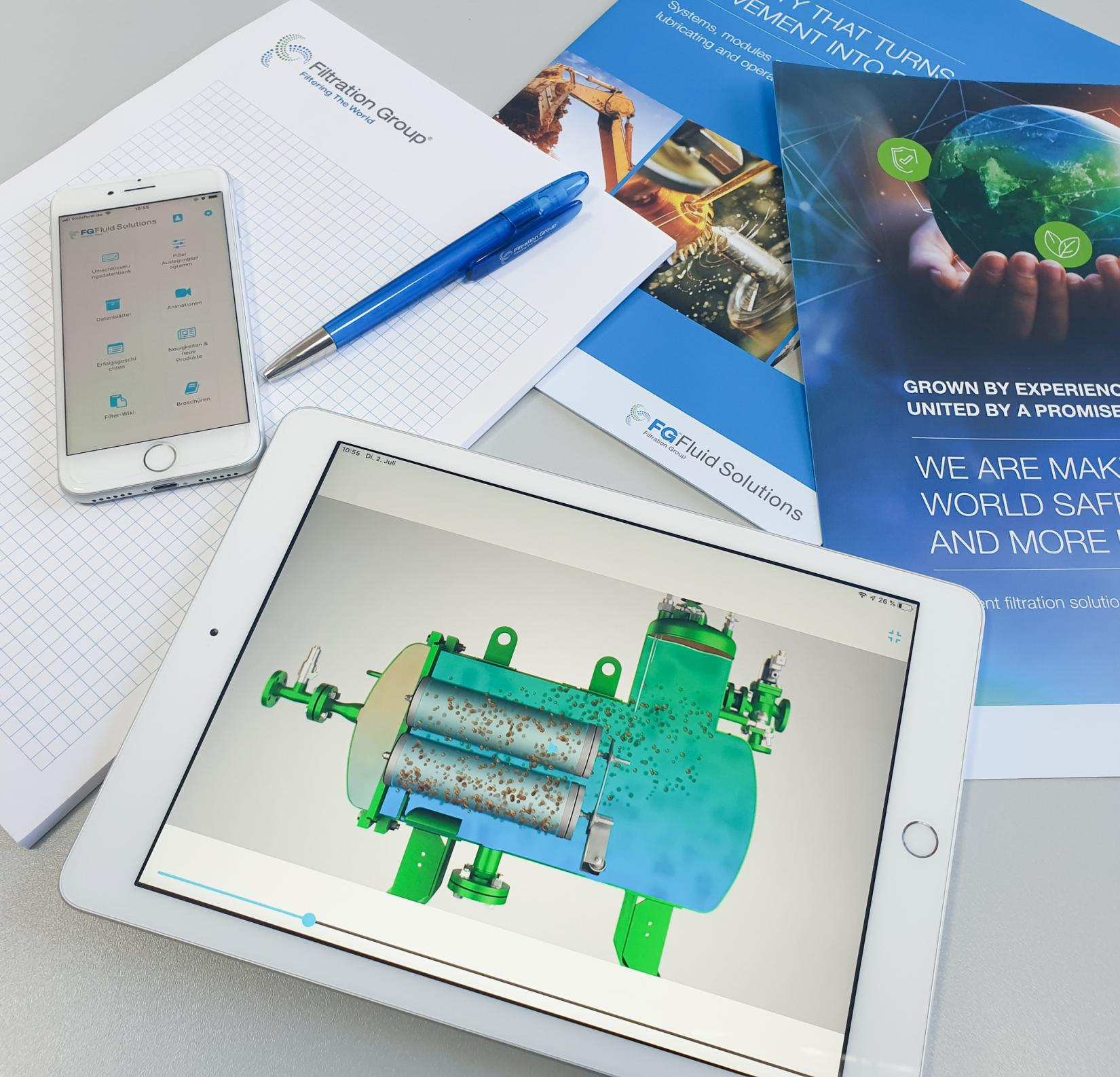 Our FG Fluid Solutions App for smartphone and tablet