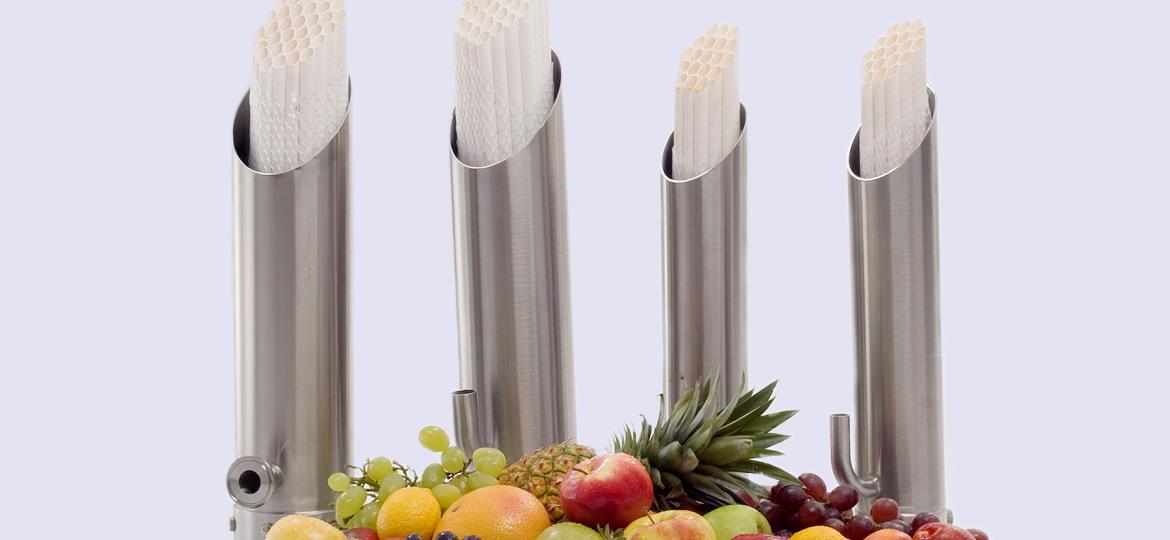 fruit with juice tubular membranes