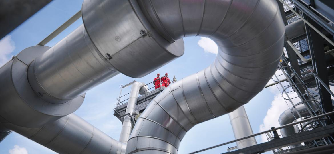 people in chemical industrial plant