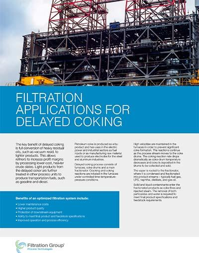 delayed coking data sheet