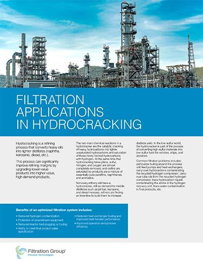 hydrocracking data sheet