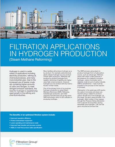 Hydrogen Production Applications Data Sheet