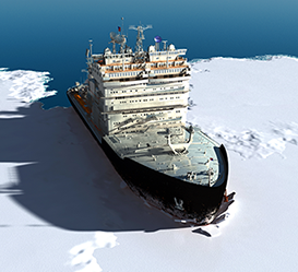 Environment and human safety on icebreaker