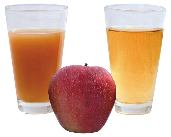 juice and apples
